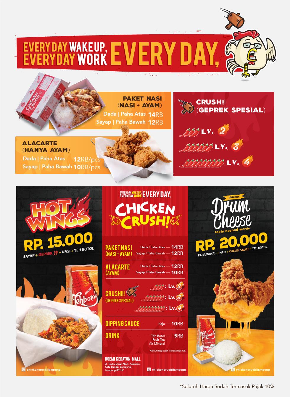 Chicken Crush Franchise Kuliner Ayam Geprek